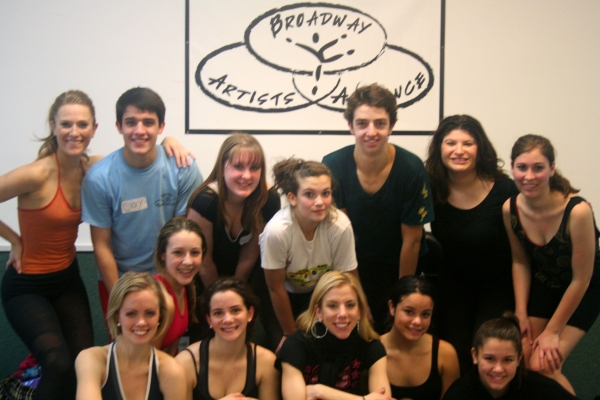 Marina Lazzaretto and the students of Broadway Artists Alliance