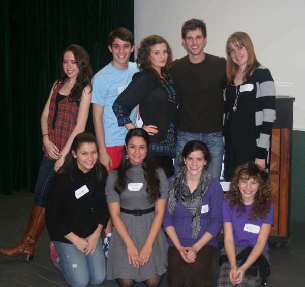 Photo Flash: Matt Cavenaugh and Marina Lazzaretto instruct students in a Broadway Artists Alliance Master Class