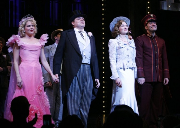 "Lauren Graham, Oliver Platt, Kate Jennings Grant , Craig Bierko during the Opening Night Performance Curtain Call for "" GUYS and DOLLS "" at the Nederlander Theatre"