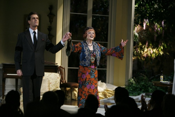 Rupert Everett & Angela Lansbury during the Opening Night Performance Curtain Call for Noel Coward's BLITHE SPIRIT at the Shubert Theatre at Photos: 2009 Curtain Call Flashback