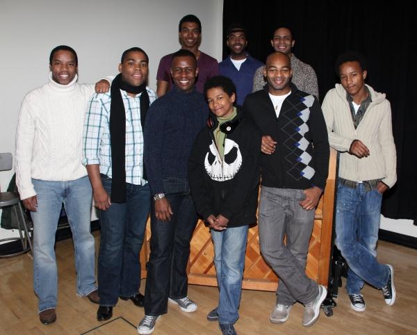 ChristIan White, Julius Thomas III, Derrick Cobey. Front row: Rodney Hicks, Sean Bradford, Josh Breckenridge, Cody Ryan Wise, Brandon Victor Dixon, and KendRick Jones