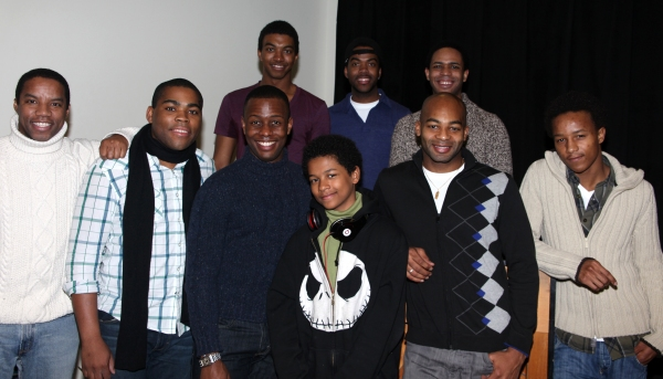 Back row: ChristIan White, Julius Thomas III, Derrick Cobey. Front row: Rodney Hicks, Sean Bradford, Josh Breckenridge, Cody Ryan Wise, Brandon Victor Dixon, and KendRick Jones
