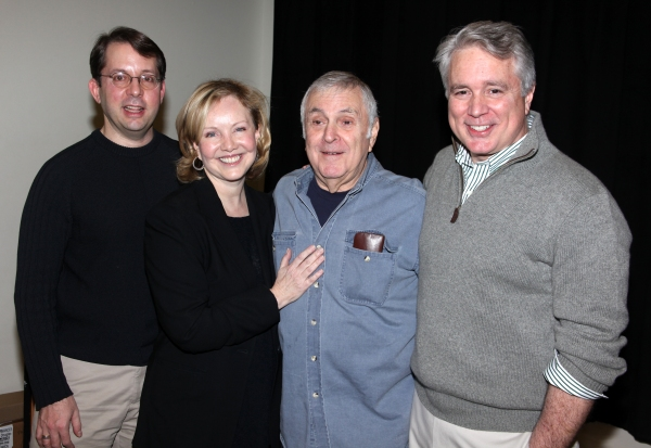 (l-r) David Loud (music director), Susan Stroman, John Kander, David Thompson