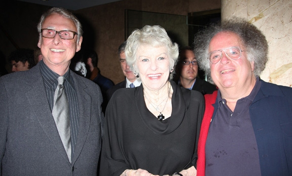 Mike Nichols, Elaine Stritch and James Levine at Elaine Stritch Opens Sondheim Show at Cafe Carlyle