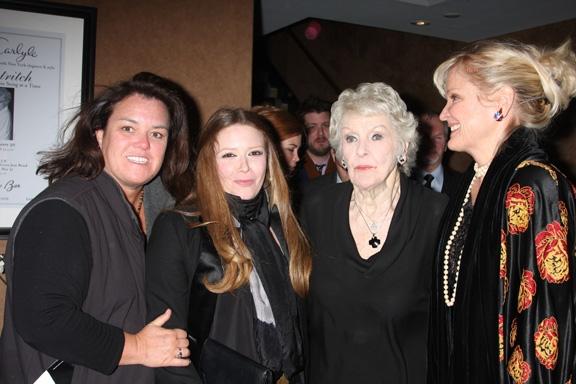 Rosie O'Donnell, Natasha Lyonne, Elaine Strich and Christine Ebersole at Elaine Stritch Opens Sondheim Show at Cafe Carlyle