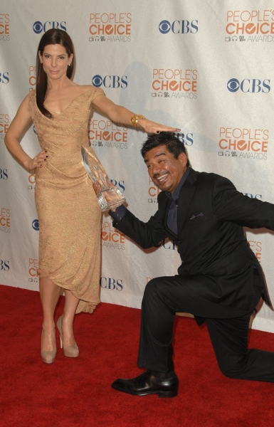 Sandra Bullock and George Lopez