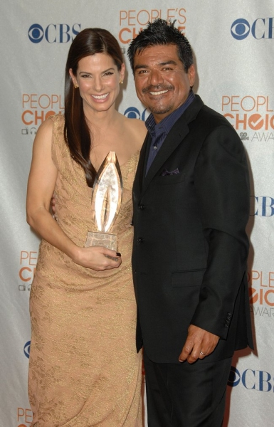 Sandra Bullock and George Lopez at People's Choice Awards - The Winners