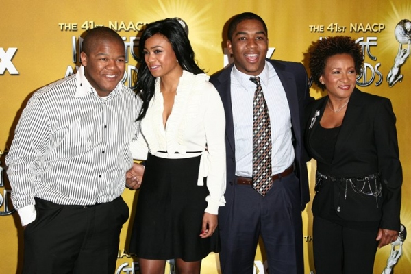 Kyle Massey, Tatyana Ali, Chris Massey, and Wanda Sykes