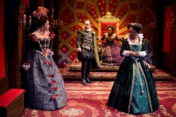 Amelia Workman (as Cordelia), Paul Lazar (as Kent), Okwui Okpokwasili (as Goneril) and April Matthis