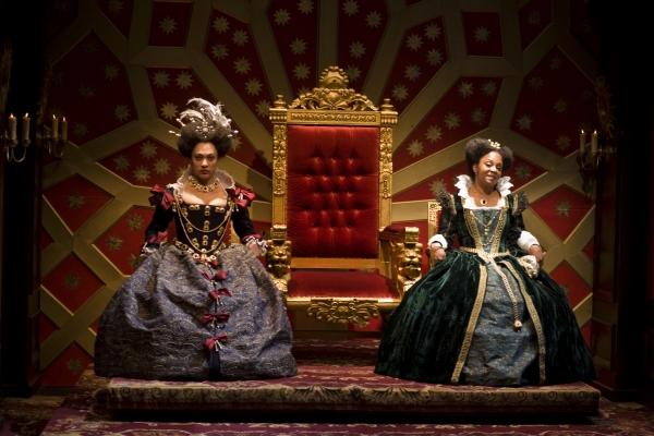 Amelia Workman (as Cordelia) and April Matthis