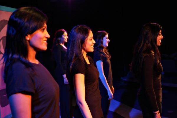 Seema Kumbhat, Alka Nayyar, Mouzam Makkar, Amanda Bobbitt, & Amrita Dhaliwal in 'Yoni Ki Baat.' Photo by Jon Tyler Core.