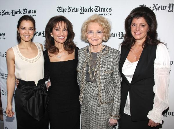 Rebecca Budig, Susan Lucci, Agnes Nixon and Julie Hanan Carruthers