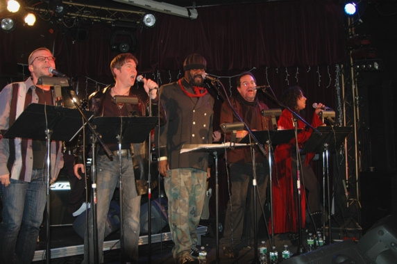 Jeremy Kushnier, Ron Bohmer, Gregory Porter, Michael Lanning and Sophia Ramos
