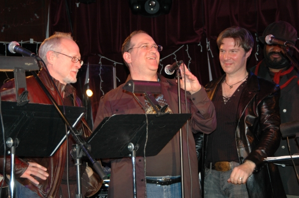 Robert Schenkkan, Neil Berg and Ron Bohmer at THE 12 Workshop at The China Club
