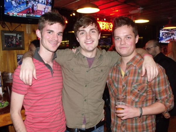 Adam Thompson, Mitch Dean and Austin Lesch