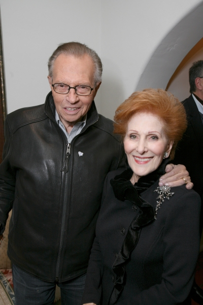Larry King, June Claman
