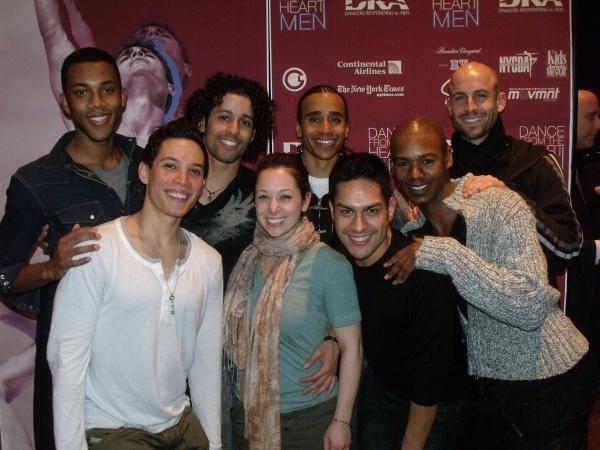 Ryan Daniel Beck, Gabriel Croom, Ramon Flowers, Duane Gosa, Mario Martinez, Luis Salgado, Kevin Santos and Alison Solomon at BC/EFA Dancers Responding to AIDS Benefit