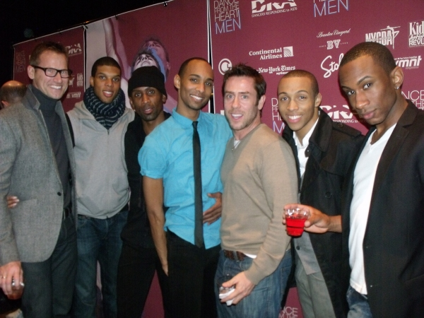 John Gregory, Tyrone Walker, Ray Mercer, Sean Carmon, Martin Bowe, Levi Marsman and Saleem Abdullahi at BC/EFA Dancers Responding to AIDS Benefit