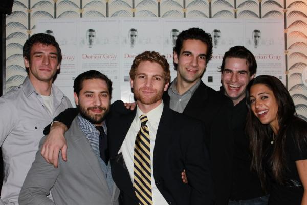 """Jade Rothman (""""James""""), Leif Huckman (""""Basil""""), Vayu O'Donnell (""""Henry""""), Wil Petre (""""Dorian Gray""""), Kaolin Bass (""""Alan""""), Christina Broccolini"""