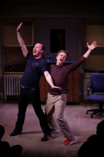 Benjamin Howes as Jeff, and Ben Nordstrom as Hunter. ©Photo by Jerry Naunheim Jr. at Production Photos of The Repertory Theatre of St. Louis's Production of [title of show]