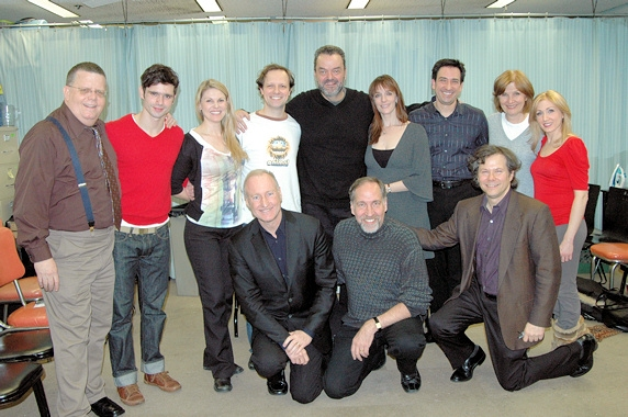 James Morgan,Robb Sapp, Heather Ayers, Jim Stanek, Bill Nolte, Julia Murney, Jordan Leeds, Mary Gordon Murray, Sarah Jane Everman, front row-Joe Keenan (Book and Lyrics), Philip Wm. McKinley (Director), Brad Ross (Composer/Musical Director)