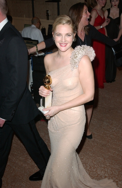 Drew Barrymore at Golden Globe Awards Winners and Press Room!
