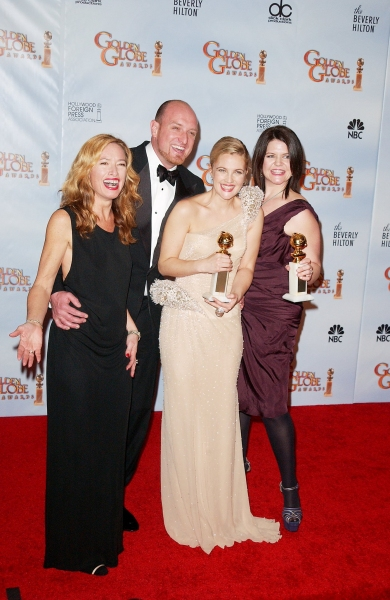 Drew Barrymore and the GREY GARDENS Team! at Golden Globe Awards Winners and Press Room!