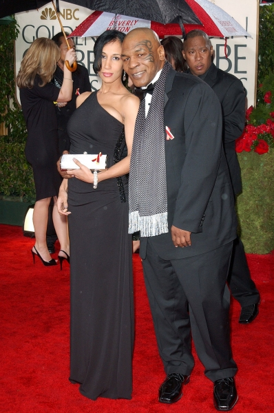 Mike Tyson  at Golden Globe Awards Arrivals Part 1