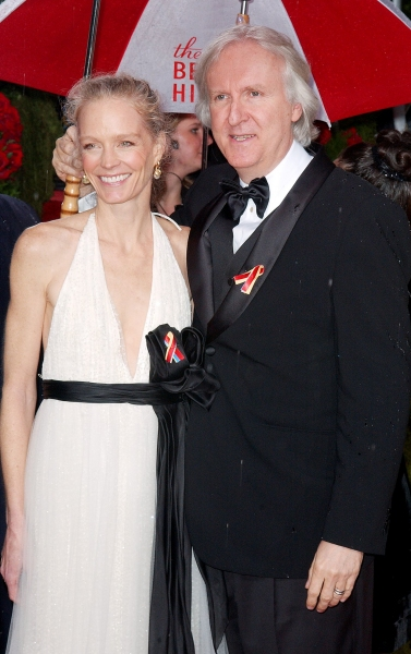 James Cameron and his wife Suzy Amis