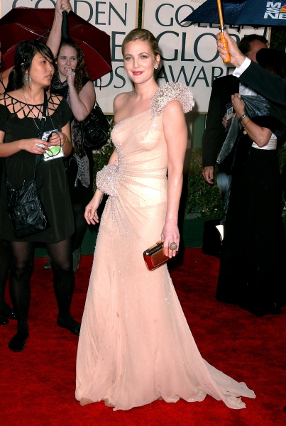 Drew Barrymore at Golden Globe Awards Arrivals Part 2