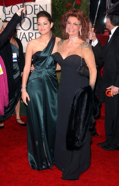 Marion Cotillard and Sophia Loren