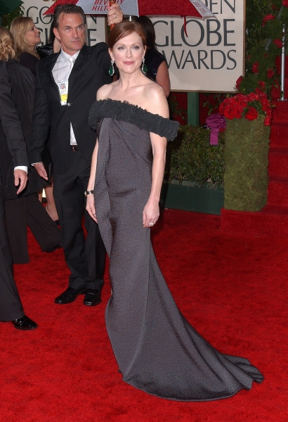 Tom Ford and Julianne Moore  at Golden Globe Awards Arrivals Part 2