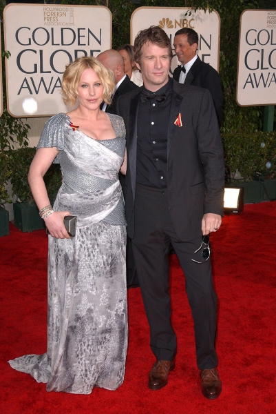 Patricia Arquette and Thomas Jane  at Golden Globe Awards Arrivals Part 2