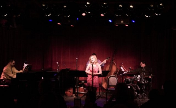 Amanda Yesnowitz at Amanda Yesnowitz's 'Wordland: A Night Without Ballads. Except For One. Maybe,' at Birdland on January 18