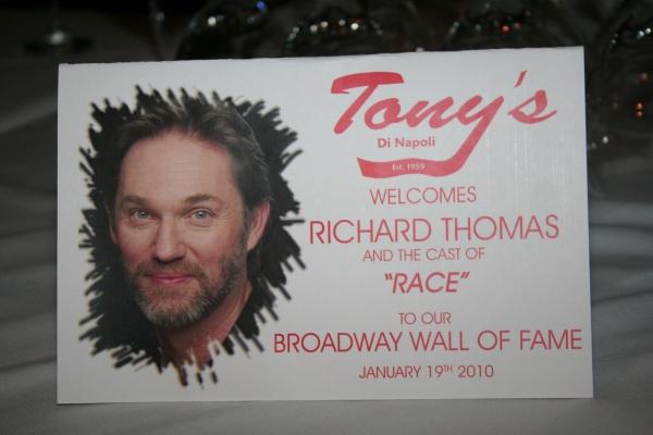 Photo Coverage: Richard Thomas Joins Broadway Wall of Fame at Tony's di Napoli
