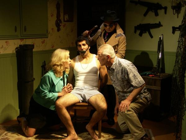 Catherine Hicks, Sunhil Malhotra, Mike Genovese, and (Top) Alec Mapa