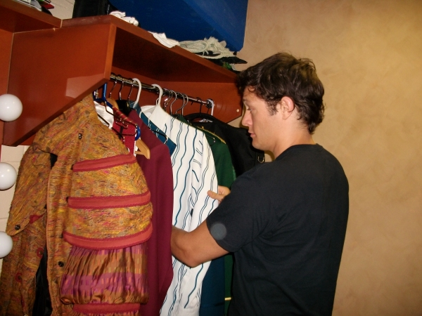Rob Mills Looks through his Costumes