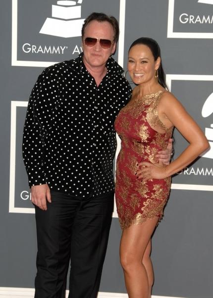 Quentin Tarantino and Tia Carrere