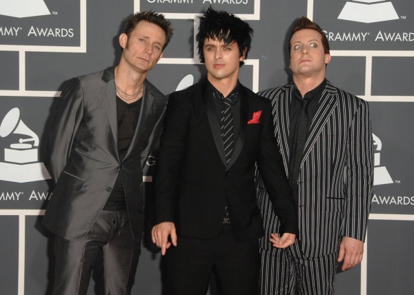 Green Day at Grammy Awards Red Carpet