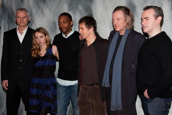 Martin McDonagh, Zoe Kazan, Anthony Mackie, Sam Rockwell, Christopher Walken, and Joh Photo