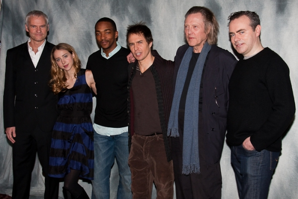 Martin McDonagh, Zoe Kazan, Anthony Mackie, Sam Rockwell, Christopher Walken, and John Crowley