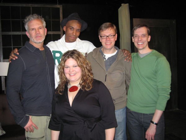 Gerald McCullouch, actor Bjorn DuPaty, Producer Samantha Desz, Playwright/actor Dan Via and Director David Hilder