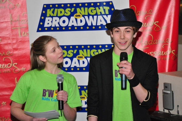 Broadway Kids Care speakers Gabby Malek and Henry Hodges