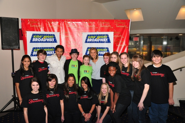 Corbin Bleu, Henry Hodges, Gabby Malek, Meredith Vieira, and the Camp Broadway Kids