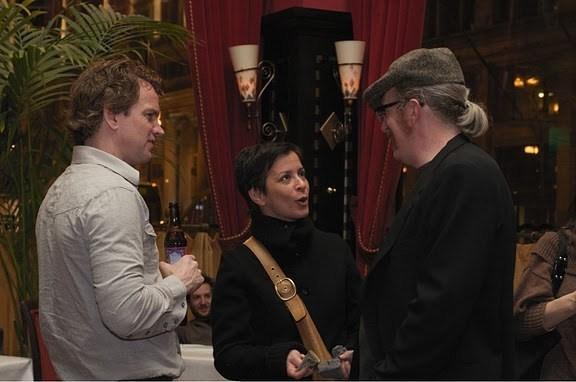 Steve Key, Anna D. Shapiro and Tracy Letts Photo