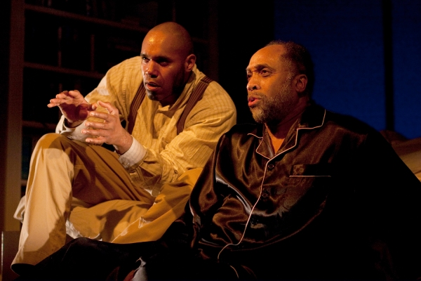 Kes Khemnu as Simon/Rex/Jesse and Johnnie Hobbs, Jr. as Lewis in Arden Theatre Company's production of Blue Door.