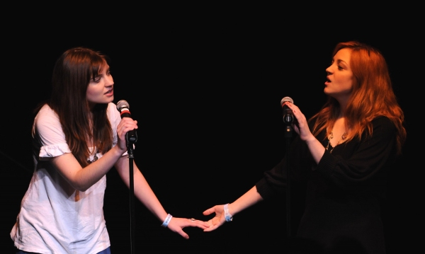 Bridey Elliott and Abby Elliott at BEYOND FUNDERDOME COMEDY BLOWOUT At 3LD
