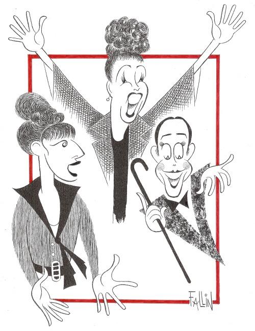 Ken Fallin Illustrates: 'Super Bowl' Performances - Streisand, Merman & Grey