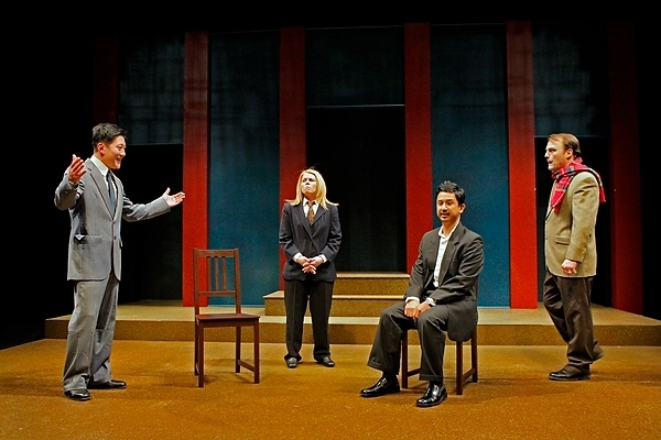 Kurt Kwan, Kim Kivens, Randy Reyes and Don Eitel at Production Photos of Mu Performing Arts' YELLOW FACE; Opens 2/6