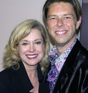 Cast member Catherine Hicks with director Daniel Henning
